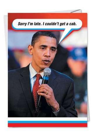 obama cabpolitical obama adult humor birthday card, Birthday card