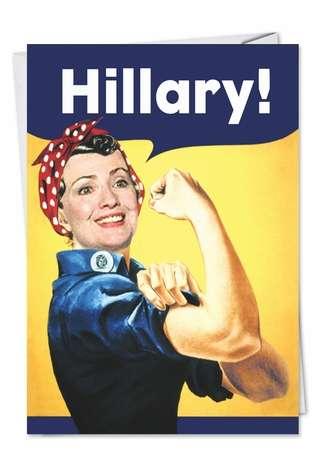 hillary rosiepolitical obama card ephemera, Birthday card
