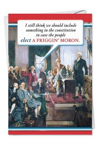 Constitution Naughty Humor Birthday Greeting Card Nobleworks