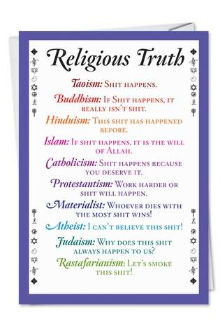 Religious Truth Unique Humorous Birthday Paper Card Nobleworks