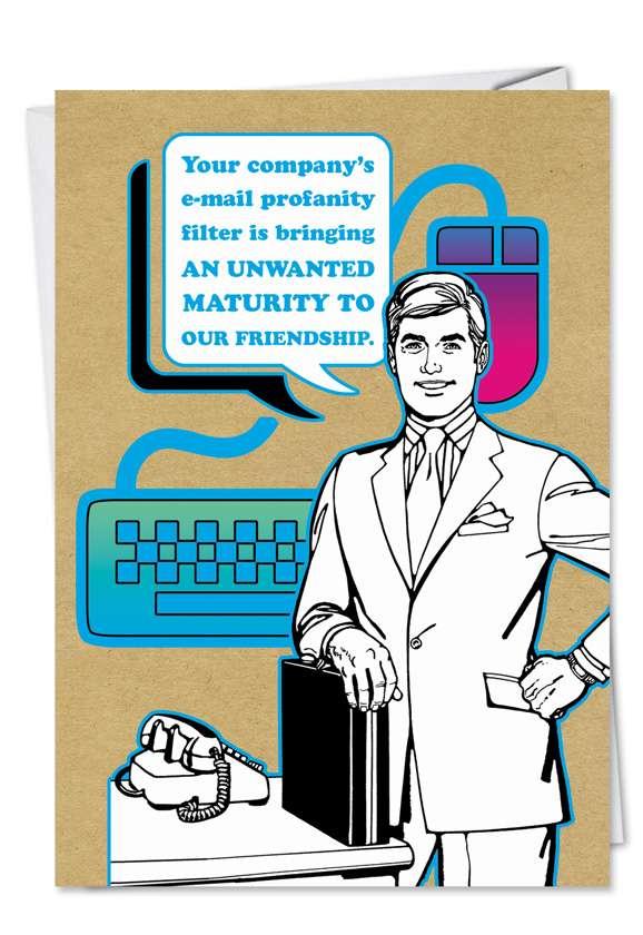 Email Profanity Naughty Funny Birthday Card Nobleworks