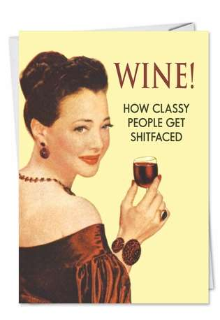 Wine Funny All Occasions Card Nobleworks