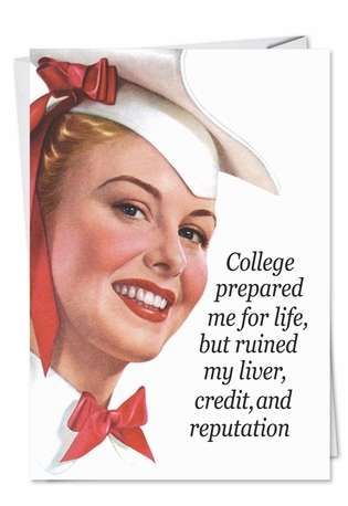 College Humor All Occasions Greeting Card Nobleworks