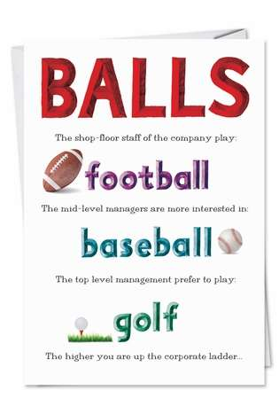 Small Balls Inappropriate Adult Humor Birthday Greeting Card