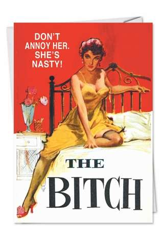 Shes Nasty Adult Funny Birthday Greeting Card