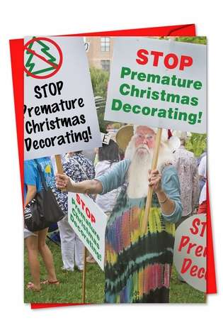 Stop Premature Christmas Decorating Sign