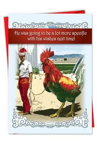 Big Cock Unique Funny Merry Christmas Card By Nobleworks