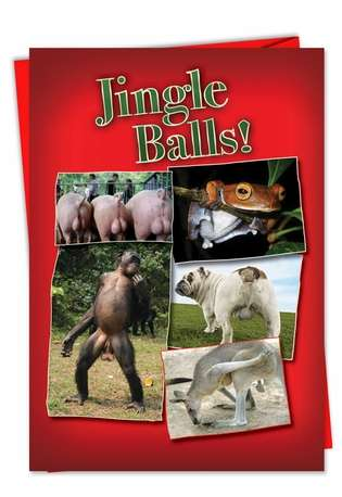 Jingle Balls Naughty Christmas Card