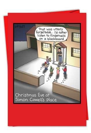 Tim Whyatt Simon Cowell Adult Funny Merry Christmas Card Nobleworks