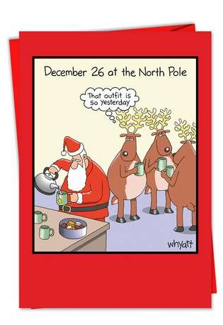 Tim Whyatt December 26 So Yesterday Inappropriate Humorous Merry Christmas Paper Card Nobleworks