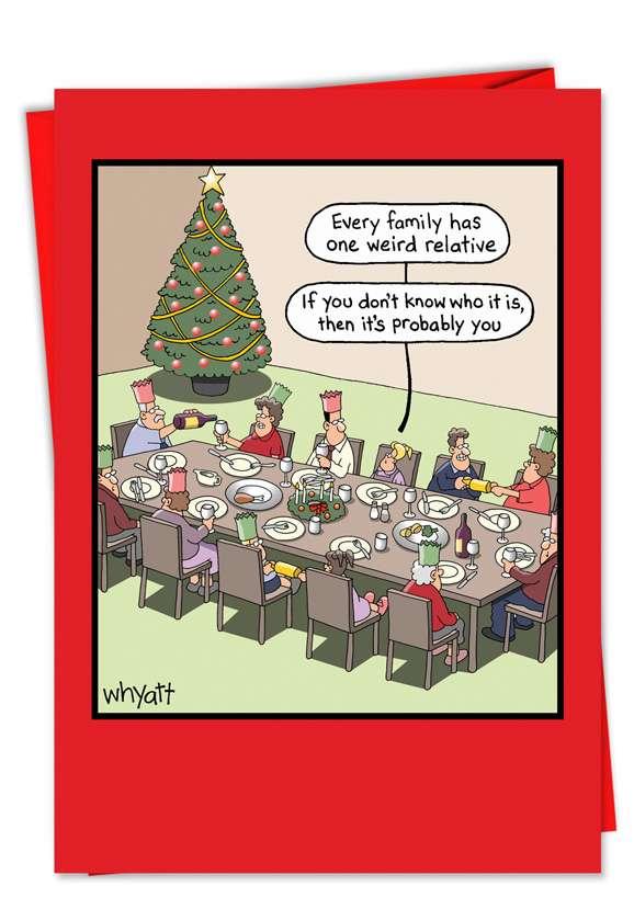 Weird Relative Christmas Card