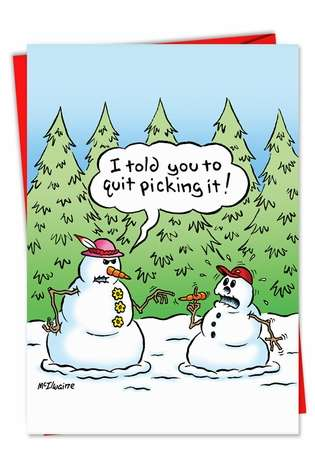 humor christmas card: