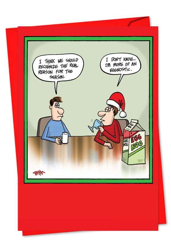 Eggnostic Christmas Greeting Card