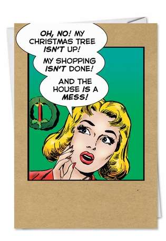 Christmas As Usual Greeting Card