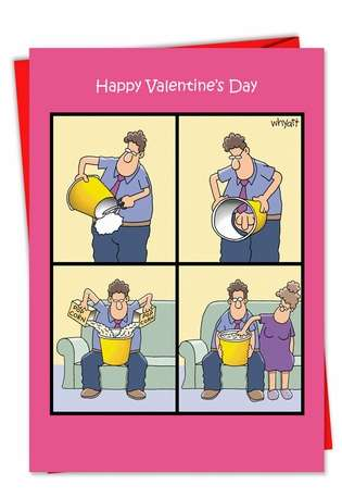 Popcorn Touch Valentine's Day Greeting Card