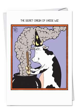 ... The Secret Of Cheese Wiz With This Hilarious Card From Nobleworks: www.nobleworkscards.com/3021-cheese-wiz-funny-cartoons-halloween...