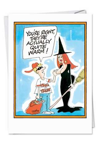 Witch Tit Naughty Funny Halloween Card Nobleworks