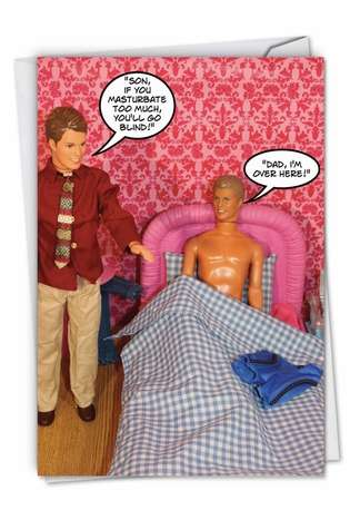 Bed Wanker Birthday Fun Picture Birthday Paper Card Nobleworks