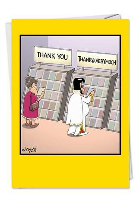 Tim Whyatt Thankya Naughty Humor Thank You Greeting Card Nobleworks