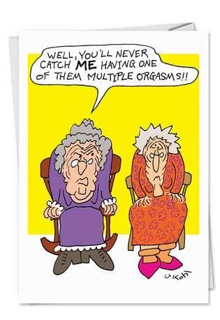 Cranky Grandma Adult Humor Birthday Greeting Card Nobleworks
