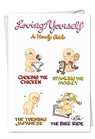 Loving Yourself Unique Naughty Funny Birthday Paper Card Nobleworks