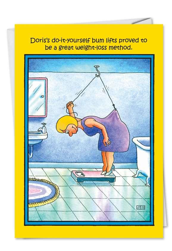 Doris Diy Humorous Birthday Paper Card Nobleworks