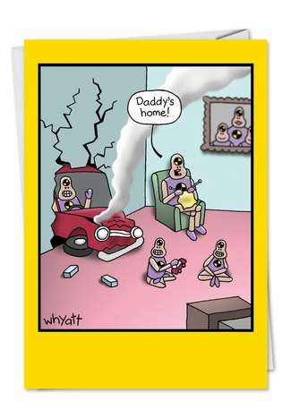 Spank Crash Test Dummies At Home Fun Pic Birthday Father Card Nobleworks