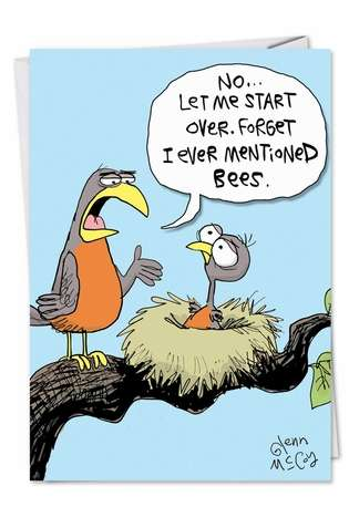 Funny Birds And Bees Father S Day Greeting Cards Nobleworks