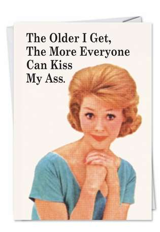 Everyone Kiss My Ass Humor All Occasions Greeting Card Nobleworks