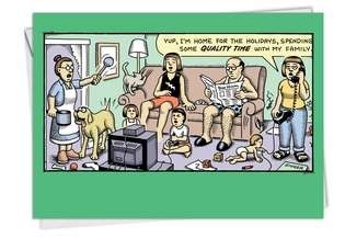 Quality Time Unique Inappropriate Humorous Merry Christmas Greeting Card Nobleworks