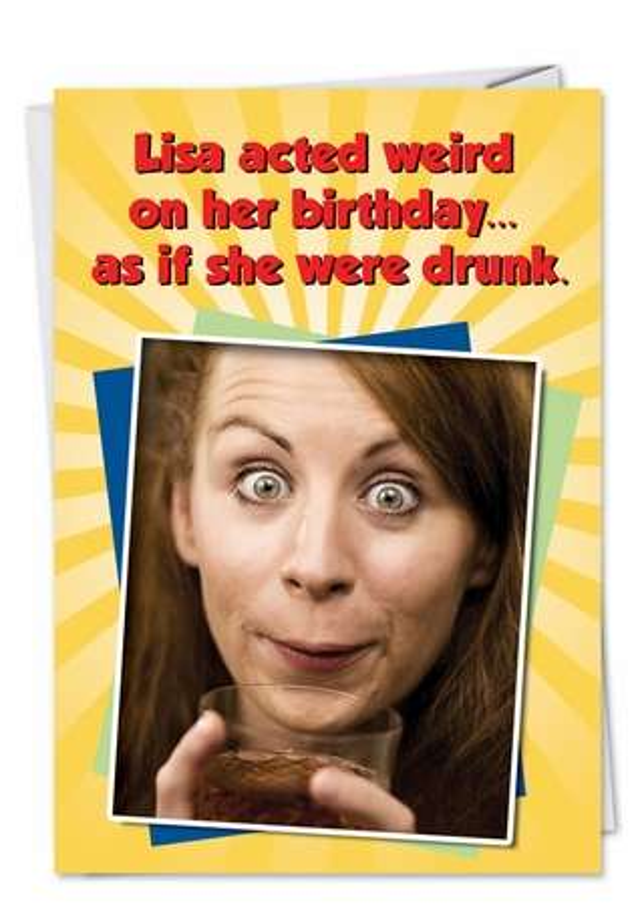 acting weird funny birthday cardnobleworks, Birthday card