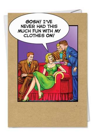 Fun With Clothes On Funny Thank You Card Nobleworks