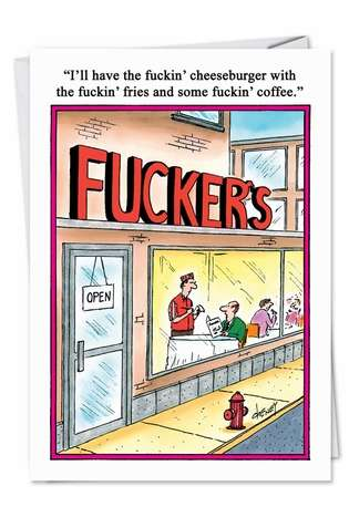 Fuckers Unique Inappropriate Humorous Birthday Greeting Card Nobleworks