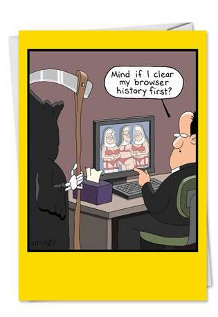 Browser History Humor Picture Birthday Paper Card Nobleworks