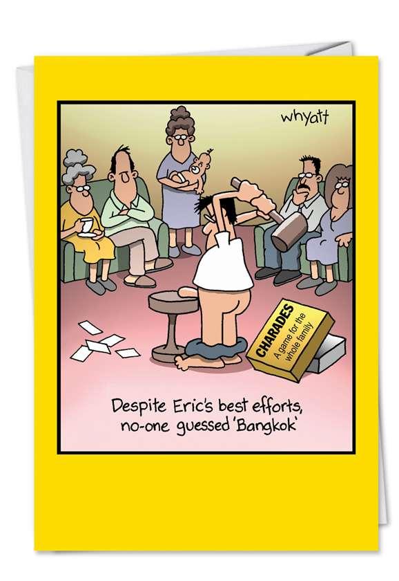 Tim Whyatt Bangkok Inappropriate Funny Birthday Card Nobleworks