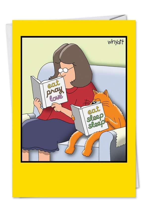 Tim Whyatt Eat Sleep Sleep Unique Humorous Birthday Paper Card Nobleworks
