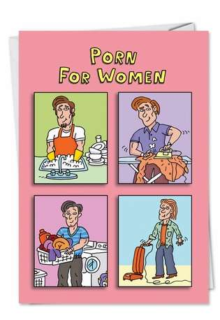 Porn For Women Adult Funny Birthday Card Nobleworks