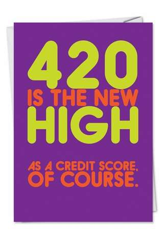 420 Unique Naughty Funny Birthday Paper Card Nobleworks