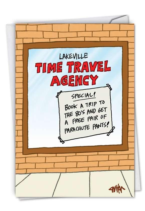1980s Time Machine Birthday Humor Card