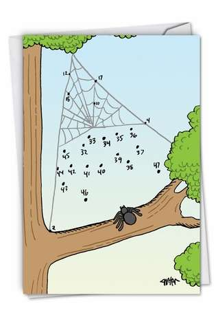 Spider Numerology Humor Card