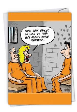 Husband Prison Sentences Anniversary Card By Nobleworks