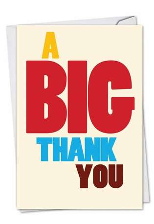 Great Big Thank You Card By Nobleworks 9689K