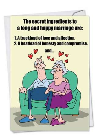 Marriage Secrets Cartoons Anniversary Card D T Walsh