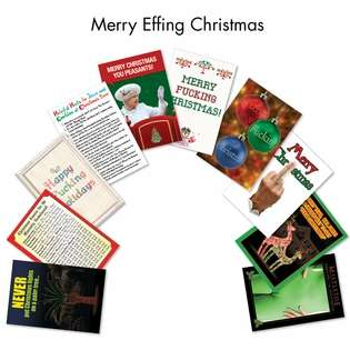Merry Effing Christmas Christmas Greeting Card By Nobleworks