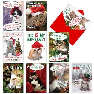Cat-Mass Cards Christmas Paper Card By Nobleworks
