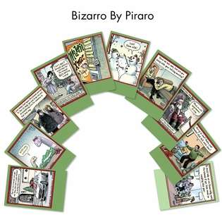 Bizarro By Piraro Christmas Greeting Card By Nobleworks