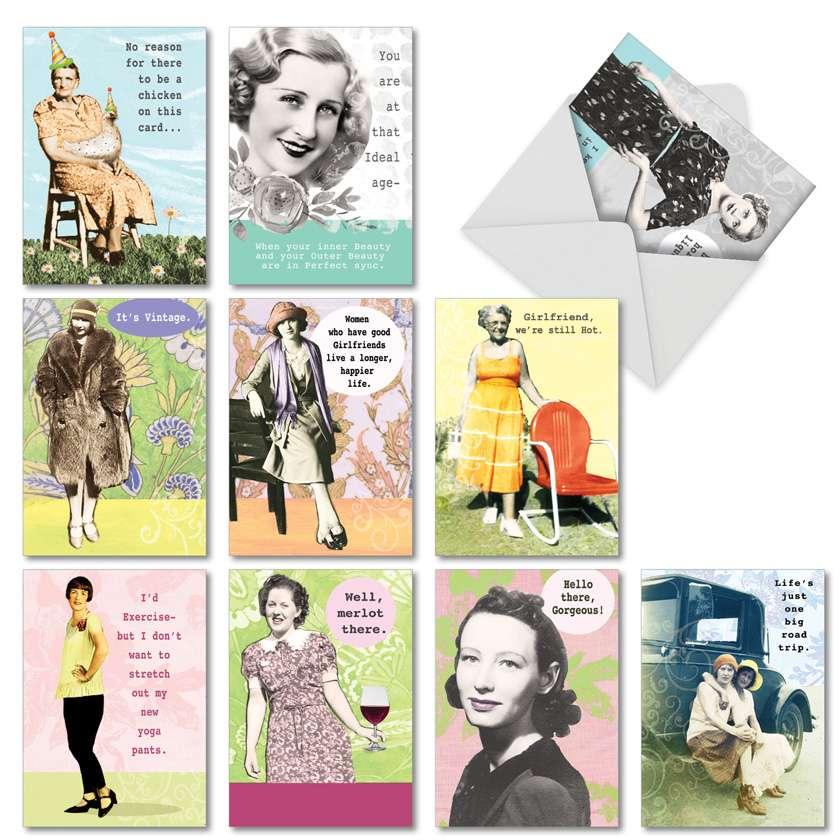 Debbie Tomassi's Badass Broads Birthday Paper Card By Nobleworks