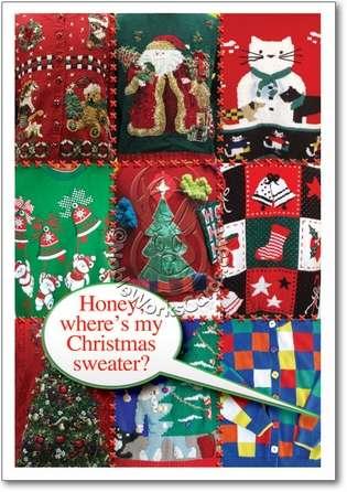 Of 12 naughty humor ugly christmas sweaters christmas card nobleworks