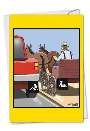 Amish Mudflap Birthday Greeting Card By Nobleworks