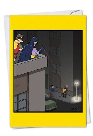 Catwoman Prank Birthday Paper Card By Nobleworks